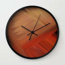 Interconnectedness in Gold, Tan and Orange Blends Wall Clock