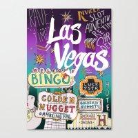 las vegas Canvas Prints featuring Las Vegas by Lera Sxemka