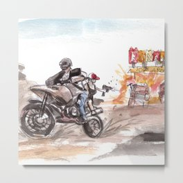 PUBG Motorbike Battlegrounds Metal Print