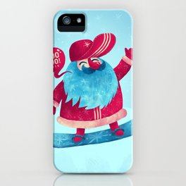 Snowboard Santa iPhone Case