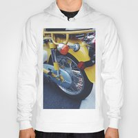 moto Hoodies featuring Yellow Moto by ThingsLikeStuff