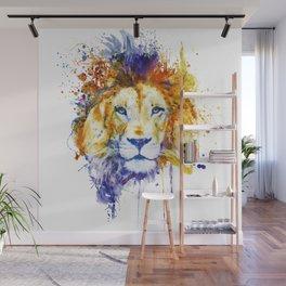 Splattered Lion Wall Mural