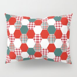 Christmas quilt red and green cute gifts home decor for the holidays Pillow Sham