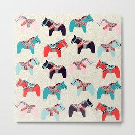 Cute Dala Horses Print Metal Print