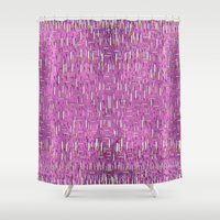 cigarettes Shower Curtains featuring cigarettes and matches pop art and pattern by Pepita Selles