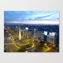 Buenos Aires Obelisco Canvas Print