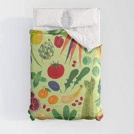 Fruits and Veggies Comforters