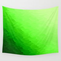 grass Wall Tapestries featuring Green Ombre by Simply Chic