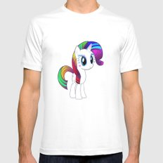Happy Unicorn in the Spring Mens Fitted Tee MEDIUM White