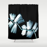 neon Shower Curtains featuring Neon by LinnaDesign