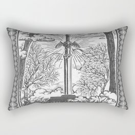 Legend of Zelda Master Sword Vintage Tarot Scene Rectangular Pillow