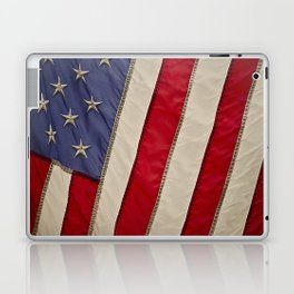 Macro Photo of an American Flag in the Sun Light Laptop & iPad Skin