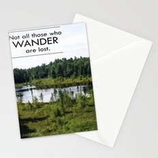 Not All Those Who Wander Are Lost Inspirational Quote Color Photo Stationery Cards