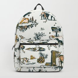 Yellowstone National Park Travel Pattern Design Backpack