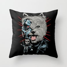 THE TERRIERMINATOR Throw Pillow