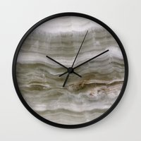 marble Wall Clocks featuring Marble by Santo Sagese