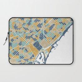 Barcelona map Laptop Sleeve
