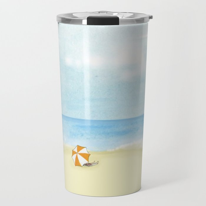 Day at the Beach Travel Mug