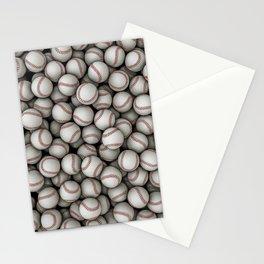 Baseballs Stationery Cards