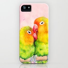 Lovebirds iPhone Case