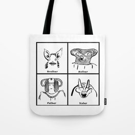 familly monster Tote Bag