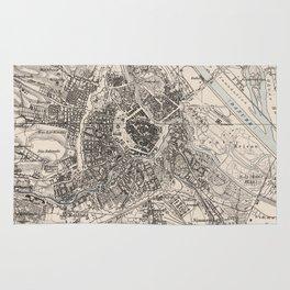 Vintage Map of Vienna Austria (1906) Rug