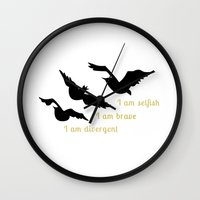 divergent Wall Clocks featuring Divergent  by Janice Wong