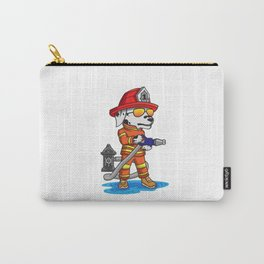 Firefigher Dog Dalmatian Fire Department Present Gift Cartoon Brigade Carry-All Pouch