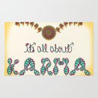 karma Area & Throw Rugs featuring Karma by famenxt