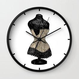 Vintage Corset | Victorian Corset | Corset on Dress Form | Wall Clock