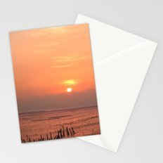 Beautiful Sunset at Cigu Bay in Southern Taiwan Stationery Cards