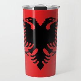 National flag of Albania - Authentic version Travel Mug