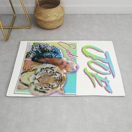 Tiger King Joe Exotic 80s style Rug