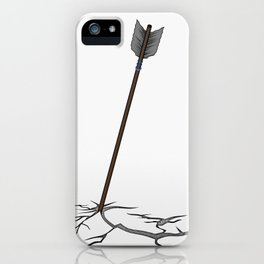 Arrow in the ground iPhone Case