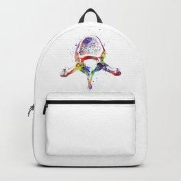 Thoracic Vertebrae Watercolor Anatomy Drawing Backpack