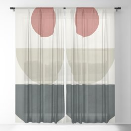 Geometric Modern Art 30 Sheer Curtain