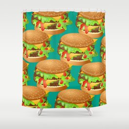 Double Cheeseburgers Shower Curtain
