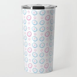 polka dot chalk version – blue and pink Travel Mug