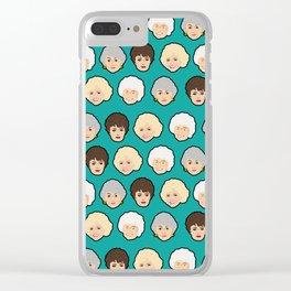 Golden Girls Green Pop Art Clear iPhone Case