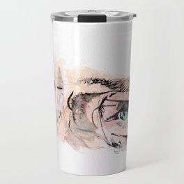 Benedict Cumberbatch Eyes Watercolour Travel Mug