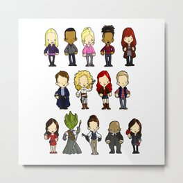 Doctors Companions and Friends V.2 Metal Print