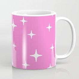 Mid Century Modern Star Pattern 443 Pink Coffee Mug