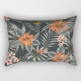 Tropical Leaf Pattern 3 Rectangular Pillow