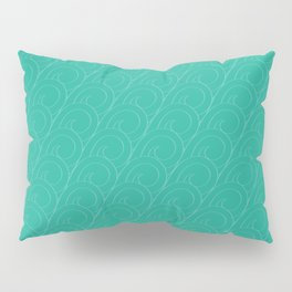 Tropical Life in Vintage Blue Pillow Sham