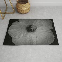 Hawaiian Dreams in Black and White  Rug