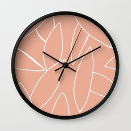 abstract tropical leaves Wall Clock