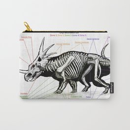 Styracosaurus Skeleton Study Carry-All Pouch