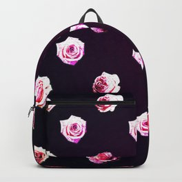 All Over Rose Print Backpack