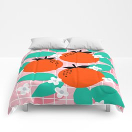 Bodacious - modern abstract minimal 1980s throwback memphis design trendy palm springs art Comforters