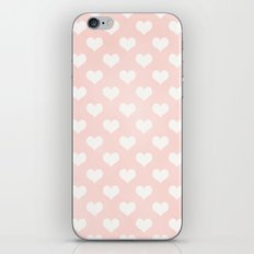 Pink Coral Love Hearts iPhone Skin